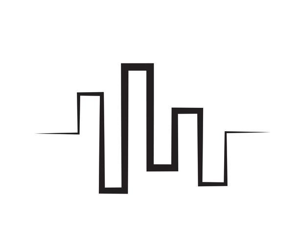 modelo de ícone de vetor de logotipo de onda de som