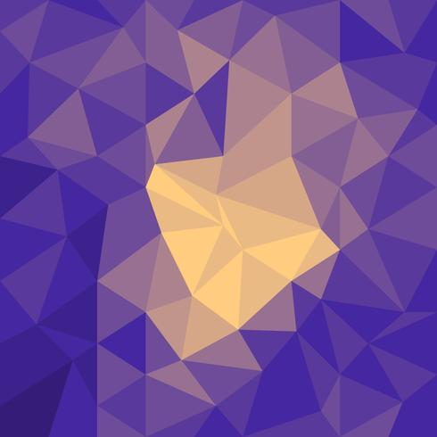 Fondo poligonal brillante vector