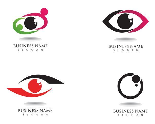 Ögonvårdslogotyp och symbol