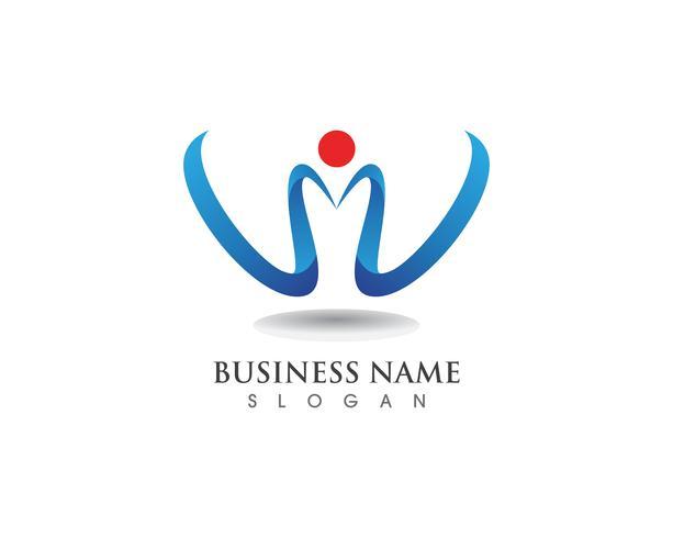 Negócio de logotipo V e modelo de símbolos