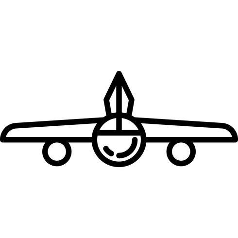 Icono de avión Vector
