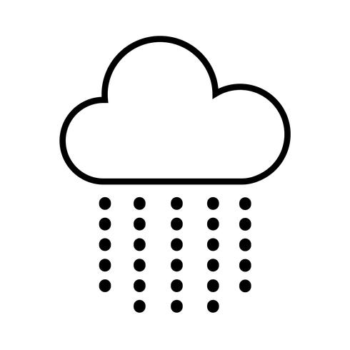 Cloud and Hail Icon Vector