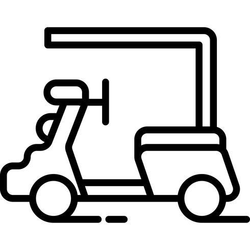 vector de icono de coche de golf