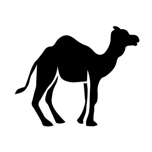 Icono de dromedario vector