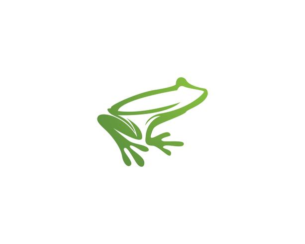 frog animals template vector app logo