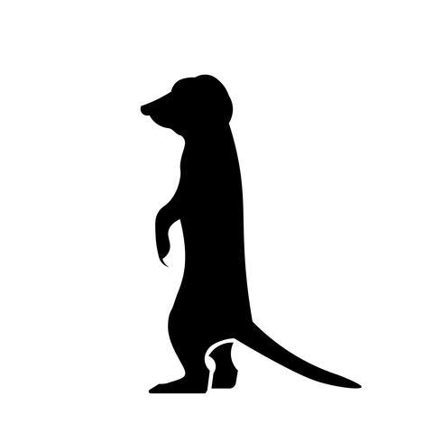 Erdmännchen-Symbol Vektor