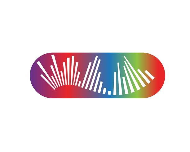 Wave Music note símbolos logotipo e ícones