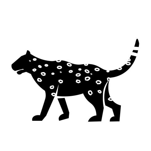vecteur d'icône léopard
