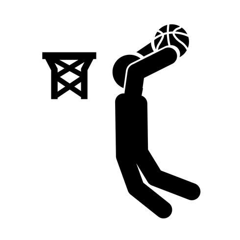 Slag dunk pictogram vector