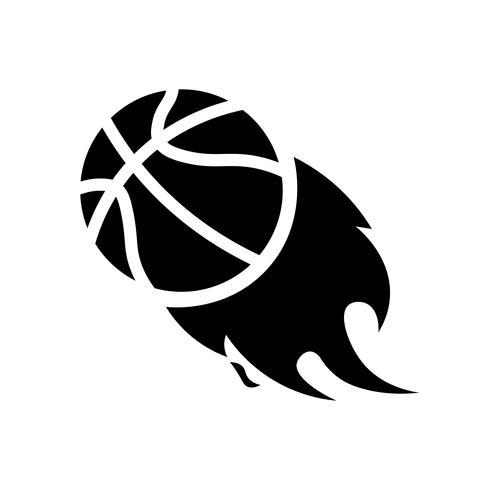 Basket i brand ikon vektor