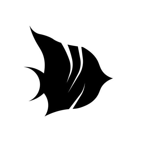 vettore dell'icona del pesce angelo