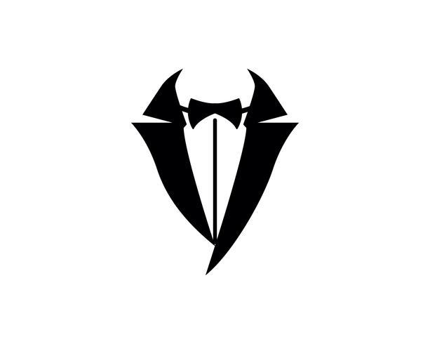 Tuxedo man logo and symbols black icons template