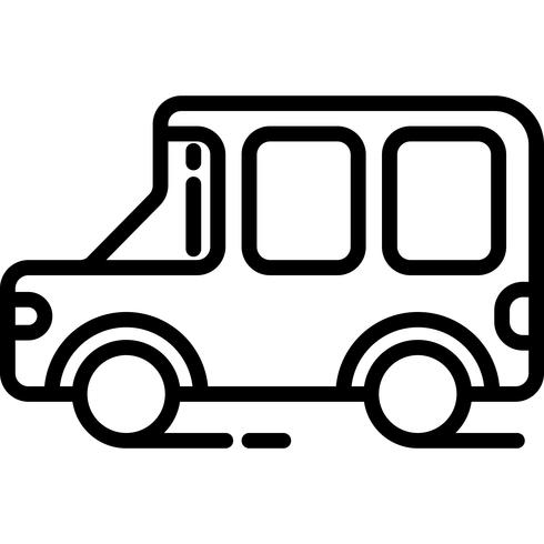 jeep pictogram vector