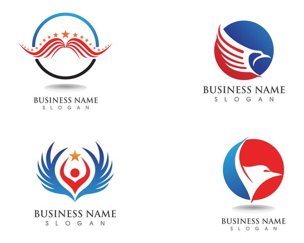 Falcon Eagle Bird Logo Template vector pictogrammen vleugel