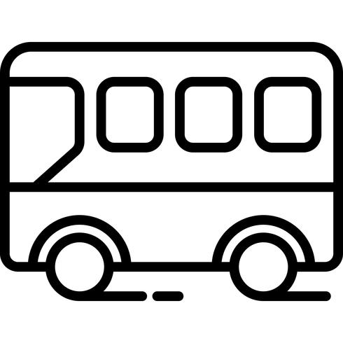 Vetor de ícone de vista lateral de ônibus