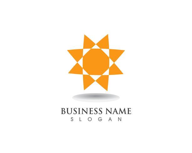 Sun logo and symbols star icon