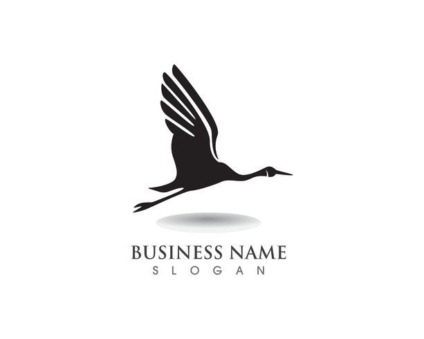 Plantilla Crane Bird Logo vector
