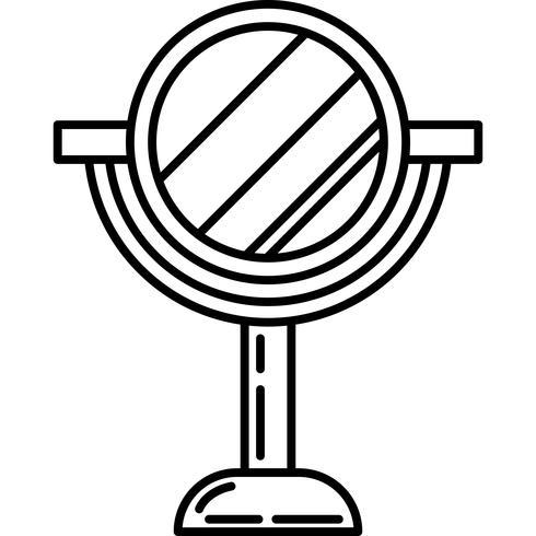 Soporte de belleza icono de vector de espejo