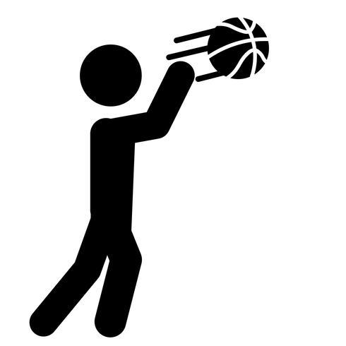 vecteur d'icône de passe de basket-ball