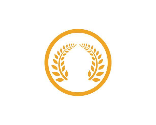 Landbouw tarwe Logo Template vector pictogram ontwerp app