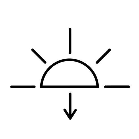 Vector icono de la puesta del sol