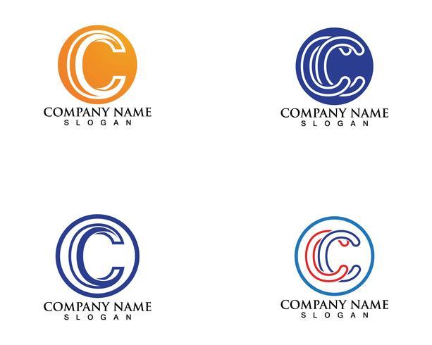 C logo y simbolos vector plantilla