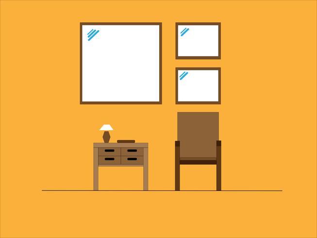 sala de estar de diseño plano