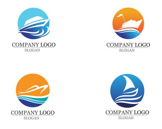 Ocean boat cruise liner ship silhouette simple linear  vector