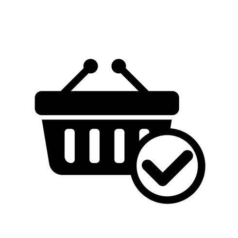 Online mandje Checkout pictogram Vector