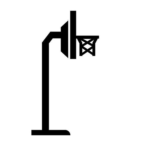 vector de icono de cesta de baloncesto