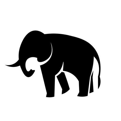 Vector icono de elefante