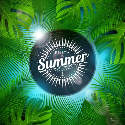 Summer Typography  Tropical Plants