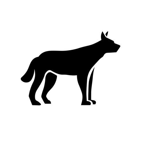 Vetor de ícone do dingo