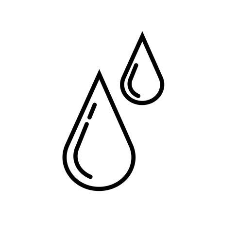 Vector icono de gotas de lluvia
