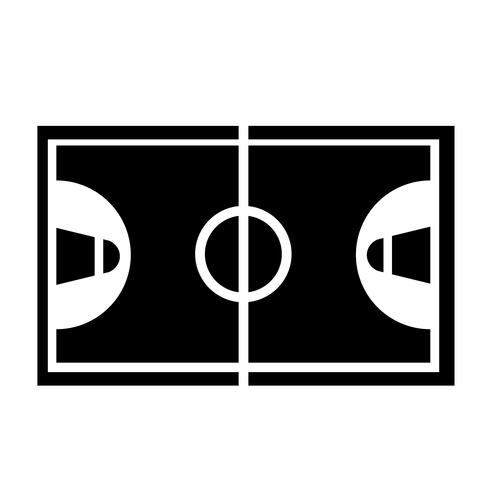 Vettore dell'icona del campo da pallacanestro