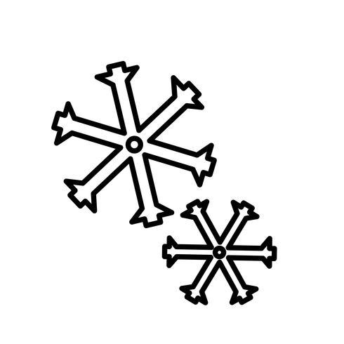 Vector icono de copos de nieve