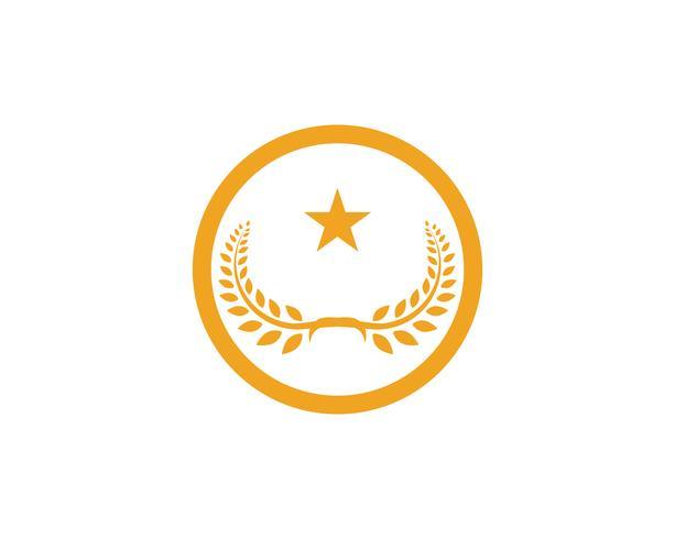 Agricoltura grano Logo Template vettoriale icona design app