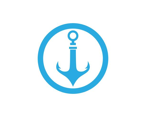 Anker-Logo und Symbol Vorlage Vektor-Icons vektor