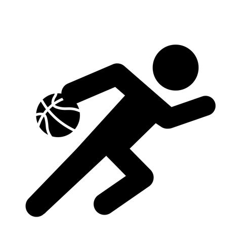 Baloncesto Dribble Icon Vector