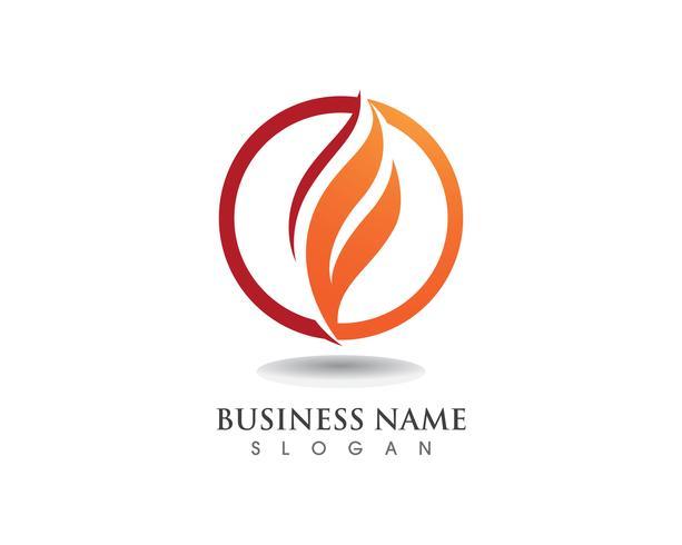 Fire flame logo vector