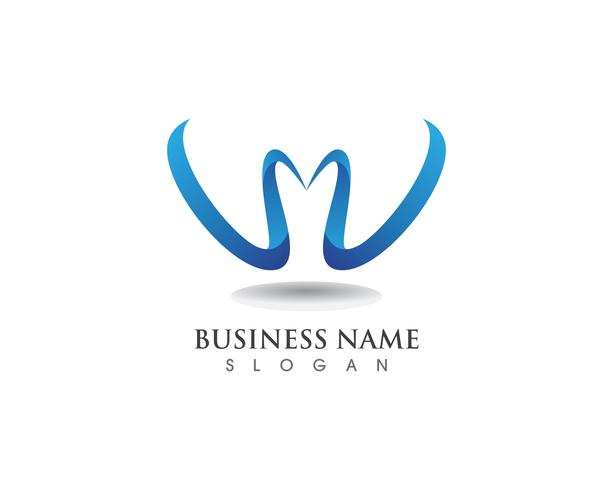 W-logotypens affärs- och symbolmall