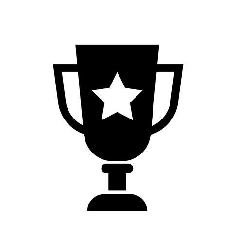 Trofeo icono de vector