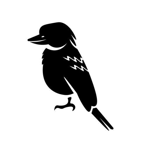 vector de icono de kookaburra