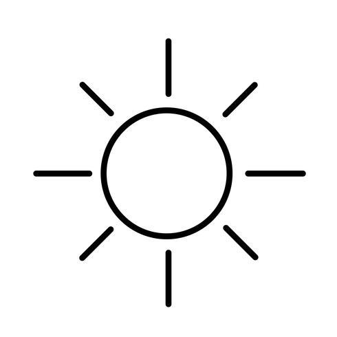 vecteur d'icône soleil