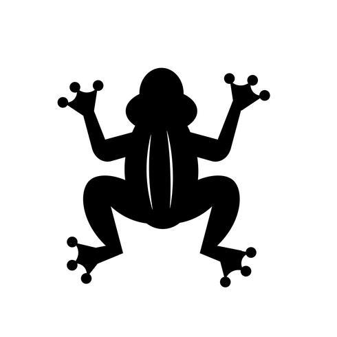 Vettore dell'icona della rana