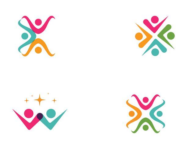 Comunidad, red y plantilla de diseño de iconos sociales. vector