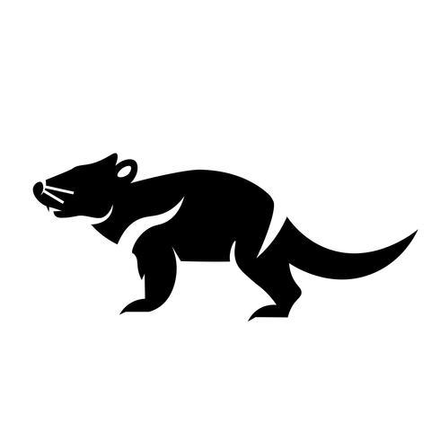 vettore icona del diavolo della Tasmania