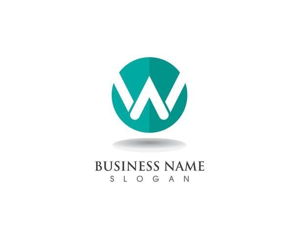 W logo aziendale e modello di simboli