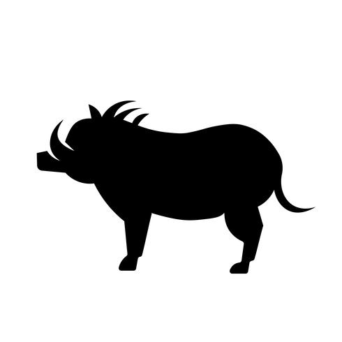 Warthog Icon Vector
