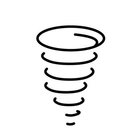 Vetor de ícone de furacão